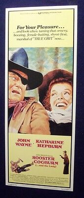 Rooster Cogburn 14X36 Original Rolled Movie Poster 1975 John Wayne Insert