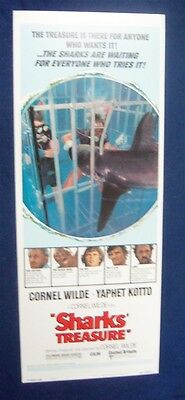 Sharks Treasure 14X36 Original Rolled Movie Poster Insert 1975 Cornel Wilde