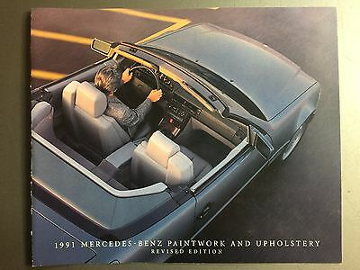 1991 Mercedes Benz Color Chart & Upholstery Showroom Sales Folder RARE!! Awesome