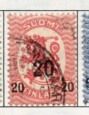 Finland 1919  Early Issue Fine Used 20p. Surcharged 151649