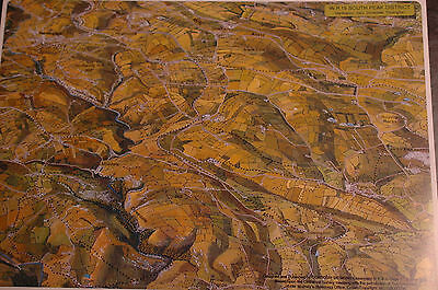 3D Aerial Panoramic A4 Fell Walking Map Peak District No19 Unusual Gift Idea