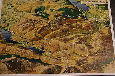 3D Aerial Panoramic A4 Fell Walking Map of Lake District No4 Unusual Gift Idea