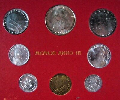 1961 Vatican City Coinage Mint Set Uncirculated           ** FREE US SHIPPING **