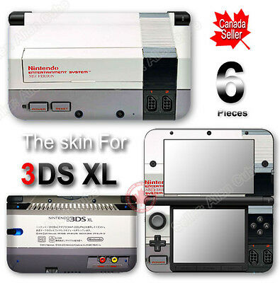 NES Classic Edition Retro System Skin Sticker Cover for Original Nintendo 3DS XL