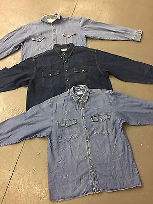 Wholesale Retro Vintage Denim Shirts X 100