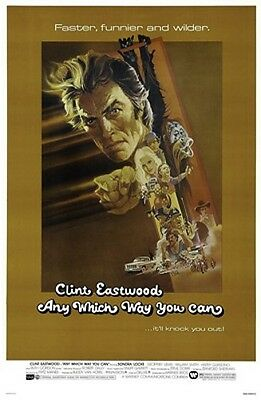 Any Which Way You Can Original Rolled 27X41 Movie Poster 1980 Clint Eastwood
