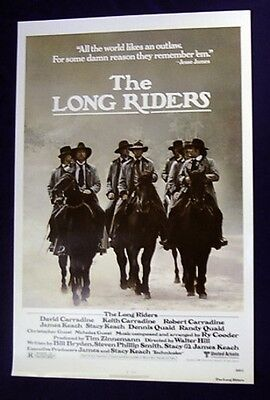 Long Riders Regular Style Original Rolled 27X41 Movie Poster 1980