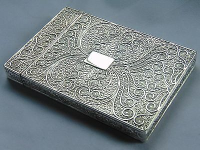Stunning Antique Solid Silver  Card Case Taylor & Perry 1830