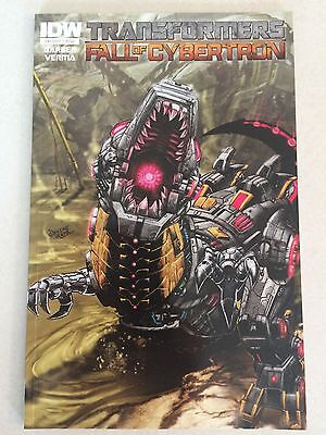 Transformers The Fall of Cybertron NM 7.99 cover price IDW Dinobots Grimlock