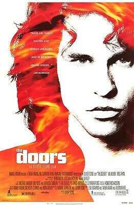 The Doors Original Rolled Theatrical Movie Poster Val Kilmer 1991