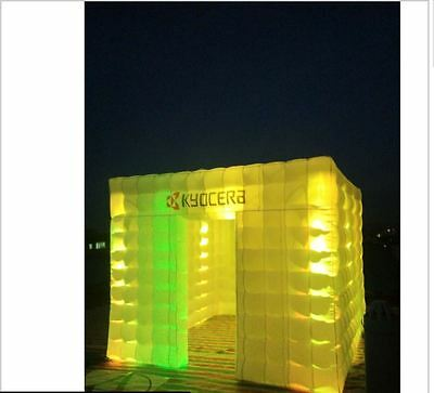 Custom made 3m portable inflatable photo party pop up LED lights igloo booth