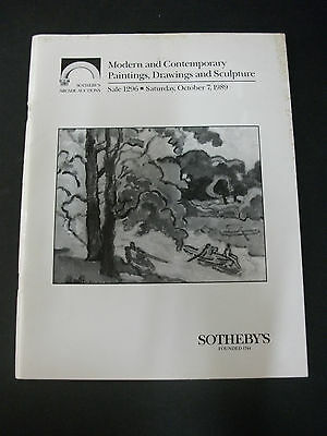 Sotheby's Modern & Contemporary Painting Drawing & Sculpture October 7 1989