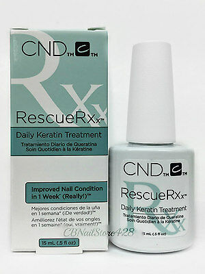 CND Rescue RXx Daily Keratin Treatment Improve Nail Condition 0.5oz/15ml - 90763