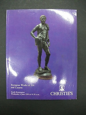 CHRISTIE'S European Works of Art and Carpets June 1990 auction catalog