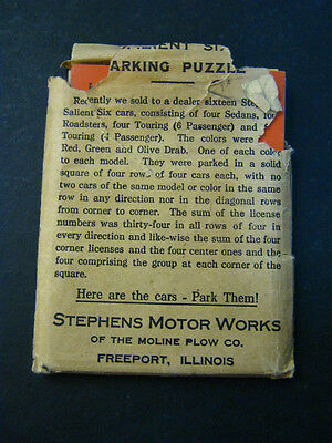 STEPHENS SALIENT SIX Parking Game Stephen's Motor Works COMPLETE vintage auto