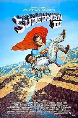 Superman 3 Original Rolled 27X41 Movie Poster 1983 Christopher Reeve Iii