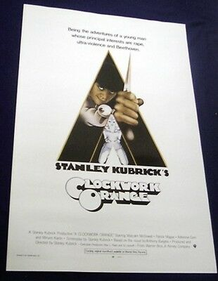 A Clockwork Orange Mint Rolled Full Size Movie Poster