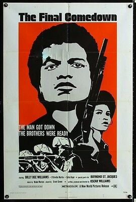 The Final Comedown Original 27X41 One Sheet Movie Poster 1972 Billy Dee Williams