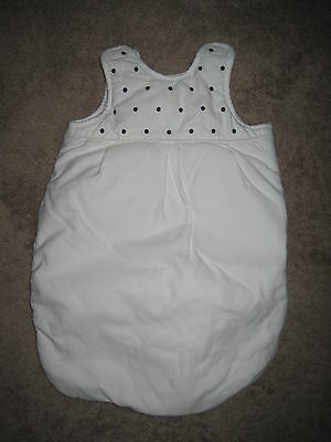 POTTERY BARN KIDS Adorable Bunting, White w/Black Embroidered Dots Unisex Infant