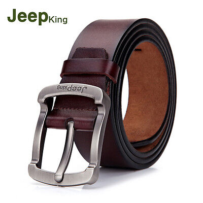 Men's Belts Casual Business Waistband Genuine Leather Pin Buckle Belt New Hot