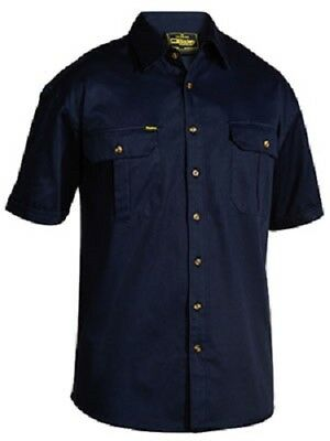 NEW BISLEY Drill Work Shirt Workwear Shirts BS1433 Original Cotton Drill Shirt