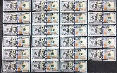 23 consecutive uncirculated $100 star notes - USD Paper Money Collectable