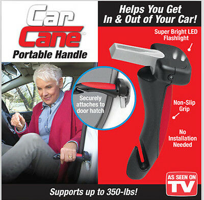 Car Cane Mobility Aid Standing Support Portable Grab Bar with Flash Light