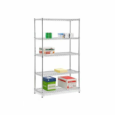 Honey-Can-Do SHF-01441 5-Tier Shelving Holds 800-Pounds per Shelf 72-Inch Chr...