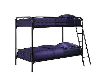 DHP Twin Over Twin Metal Bunk Bed Black