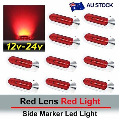 10X Red 4 SMD LED Side Marker Tail Light Clearance Lamp Truck Trailer AU Stock