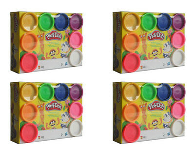 4 x Hasbro Play-Doh A7923 Modelling clay Rainbow Starter set 8 from 2 years