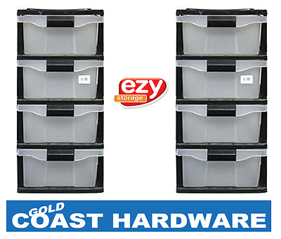 2 x Ezy Storage 4 Drawer Cabinet