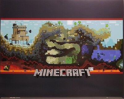 MINECRAFT POSTER (40x50cm)  PICTURE PRINT NEW ART