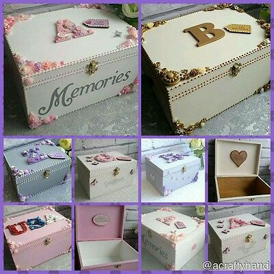 **baby/childrens  Personalised Birth/christening Gift Keepsake Memory Wooden Box