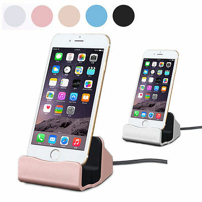 Charging Dock Charger and Sync Stand For iPhone 5 6s 7 Android Phones with Cable