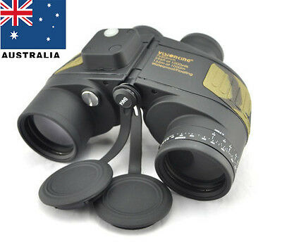 Visionkin 7x50 Military Marine Waterproof Binoculars Compass range finder In AU!