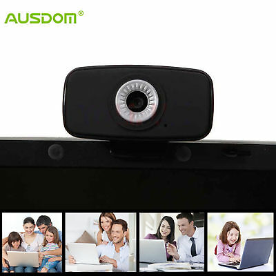 AUSDOM 720P Full HD USB 2.0 Webcam PC Video Network Camera with Mic for Computer