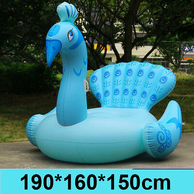 Inflatable Air Mattress Peacock Sun Lounger Lilo Air/Bed Float Swimming Pool