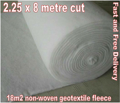 18 m2 Weed Control Landscaping Fabric GeoTextile Non-Woven Membrane 2.25x8m Roll