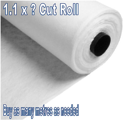 Weed Prevention GeoTextile Membrane Fabric - 1.1m x ? - Non-Woven Strong Fleece