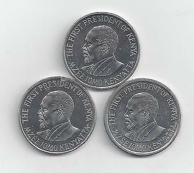 3 DIFFERENT 1 SHILLING COINS from KENYA (2005, 2009 & 2010)