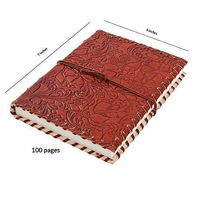 Leather Journal Diary Composition Notebook Travel Record Book Beautiful Floral
