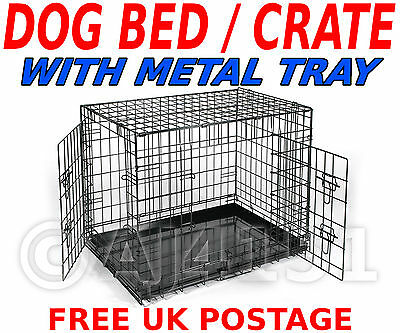 Pet Dog Puppy Folding Crate Cage Carrier SIZE : LARGE For Transport & Training