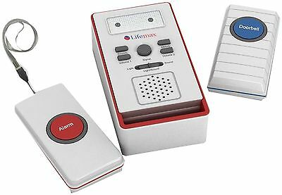 Lifemax Home Care Alert Wirless Doorbell With Panic Alarm Patient Alarm Care