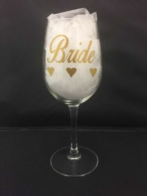 Wedding Day Bridal Party/role Glass Decals  Diy Personalised Wine Glass Sticker
