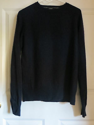J.Crew Men's Navy Blue 100% Lambs Wool Crew Neck Sweater Medium