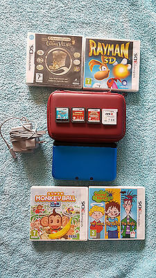 Nintendo 3DS XL - Blue & Black Handheld System With 8 Games