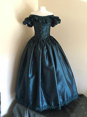 Custom Civil War Reproduction Ball Gown Evening Gown
