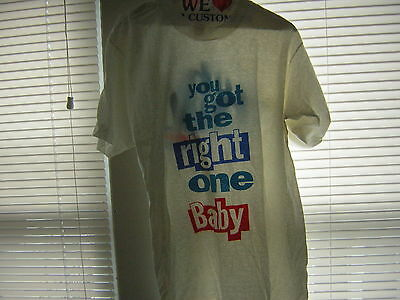Diet Pepsi T Shirt Vintage Late 80's You Got He Right One Baby Deadstock Large