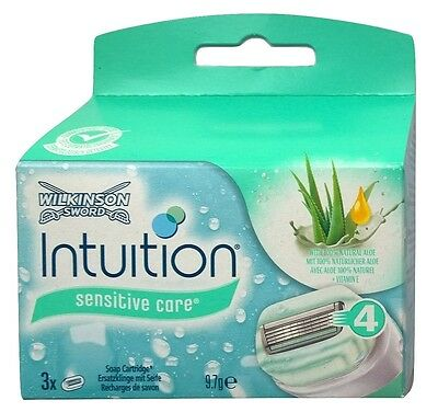 3 Wilkinson Intuition Naturals Sensitive Care Rasierklingen mit Aloe